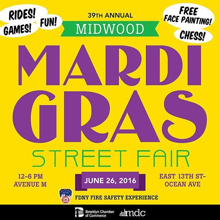 Dont miss Midwood MardiGras on June 26th! More at middevorgeventmardigras2016