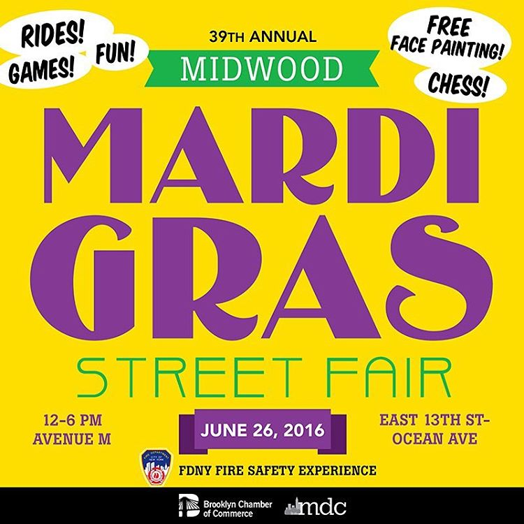 Dont miss our 39th Annual Midwood MardiGras! This years streetfairhellip