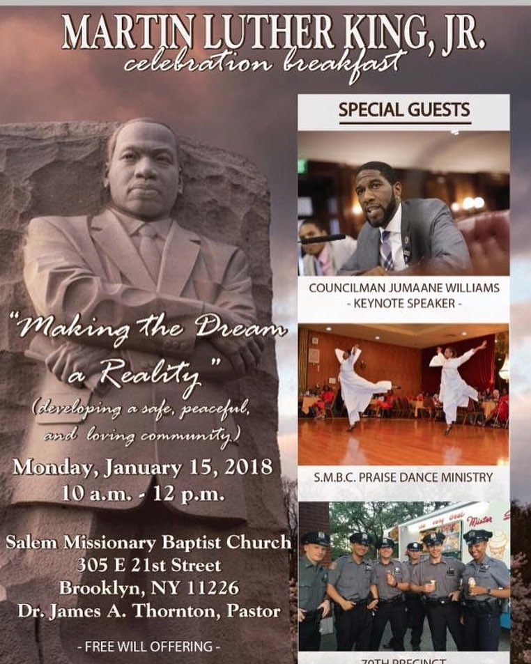 Remember MLK at breakfast celebration with keynote speaker williamsjumaane thishellip